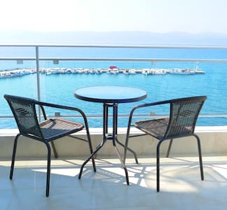 Double Sea view room in Porto Evia - Amarinthos - Bed & Breakfast