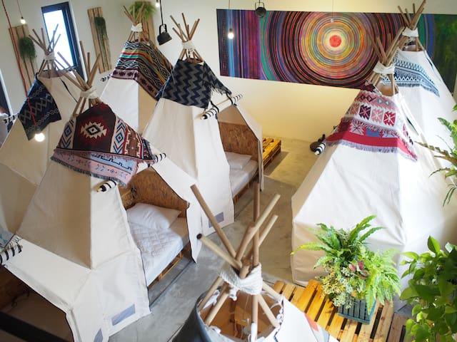 [Hengchun/Kenting] Indoor Camping Campsule Hostel
