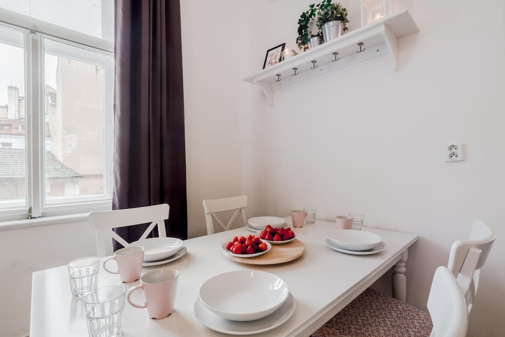 If you love to enjoy your home made meal at nice and spacious dining table you will find what you like in our place :)