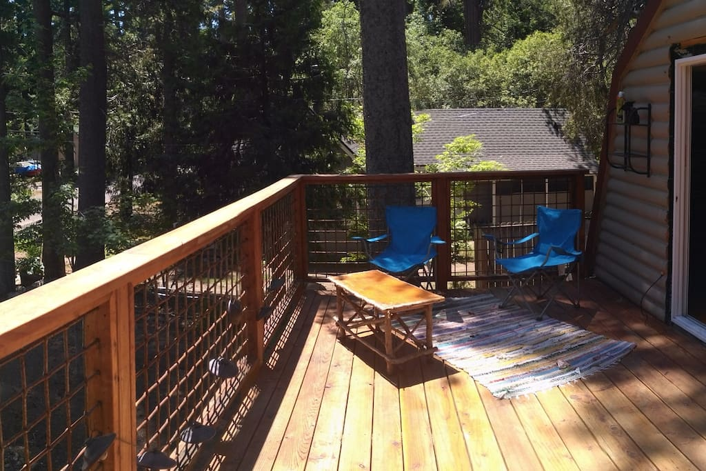 2nd story deck from master bedroom