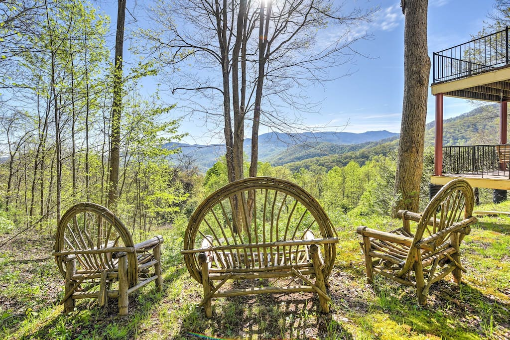 Enjoy endless mountain views from just about anywhere on the property!