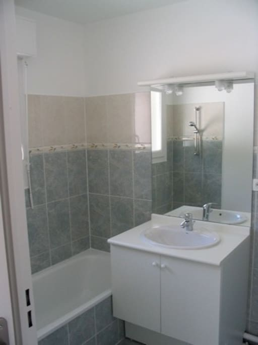 toilettes et salle de bain séparées