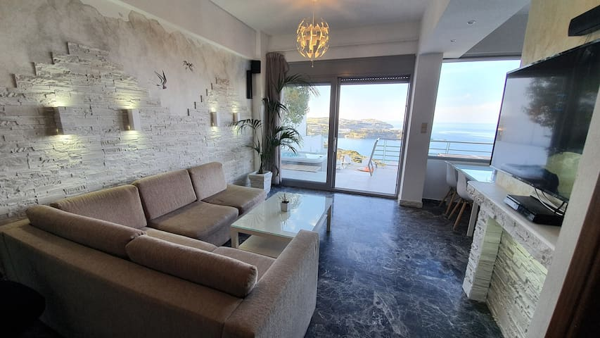 Panoramic 2 bedroom appartment & private jacuzzi