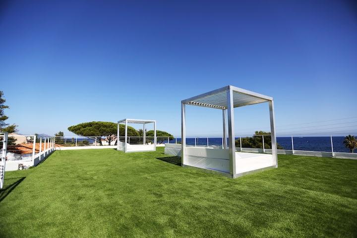 chambres d'hôtes vue mer panoramique avec balnéo