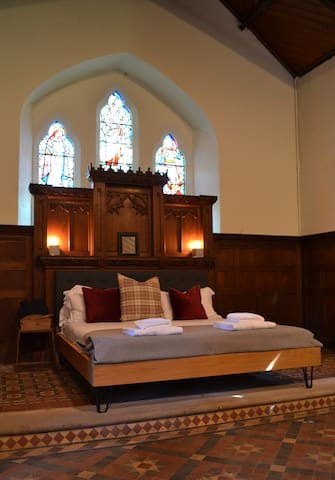 The super king bed in the master bedroom