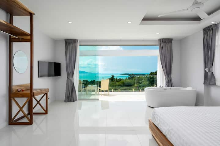 Sunset Lagoon Villa 400m To Great Beach, Incl BF