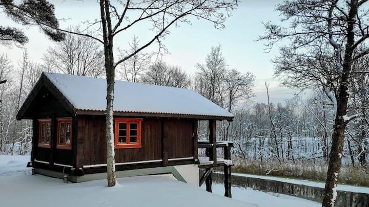 Cabin Vesihobu with sauna at the riverside
