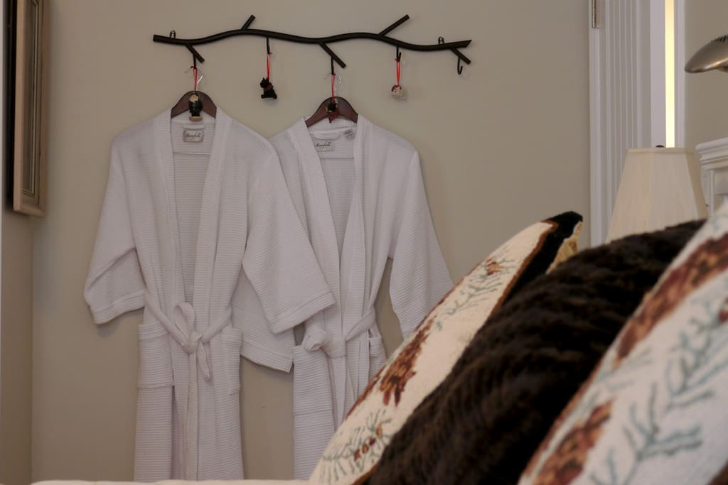 Spa robes and slippers.