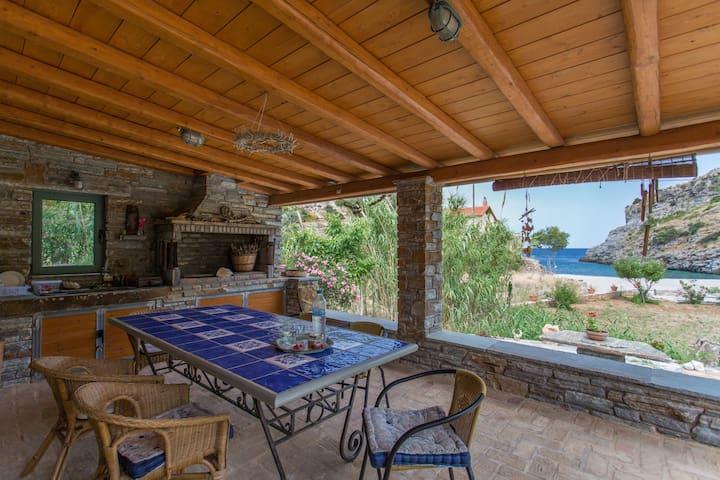villapetramarina, beach house, island Evia, Greece - Nea Stira - Villa