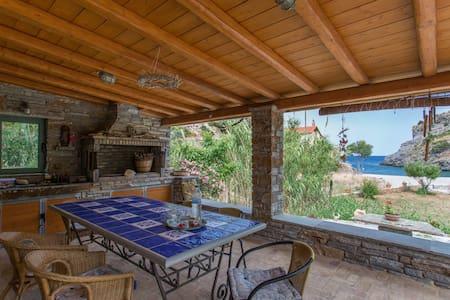villapetramarina, beach house, island Evia, Greece - Nea Stira - 별장/타운하우스