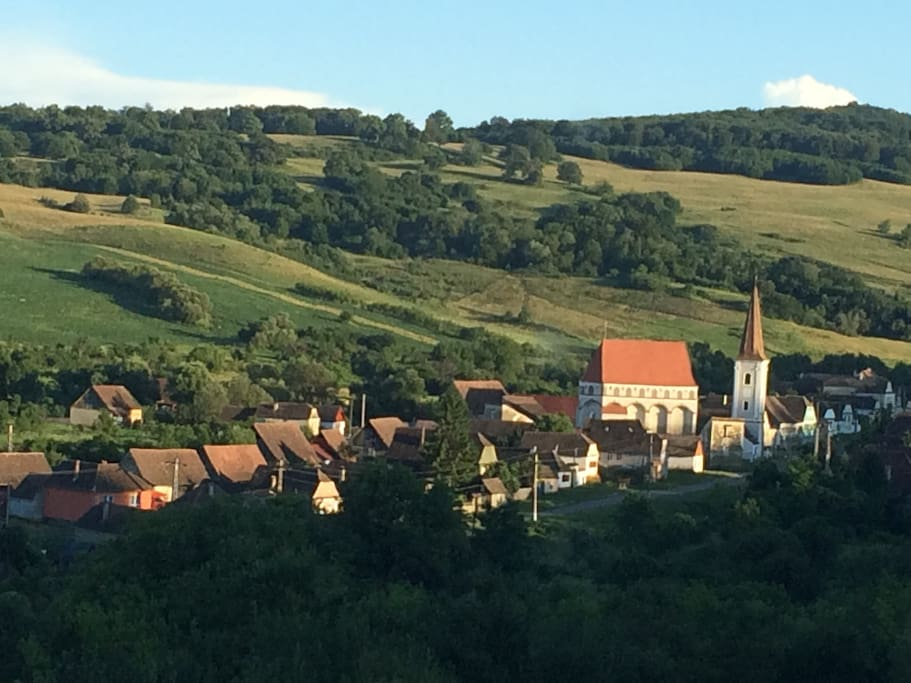The main historical attraction in Cloasterf  : the old fortified Saxon church