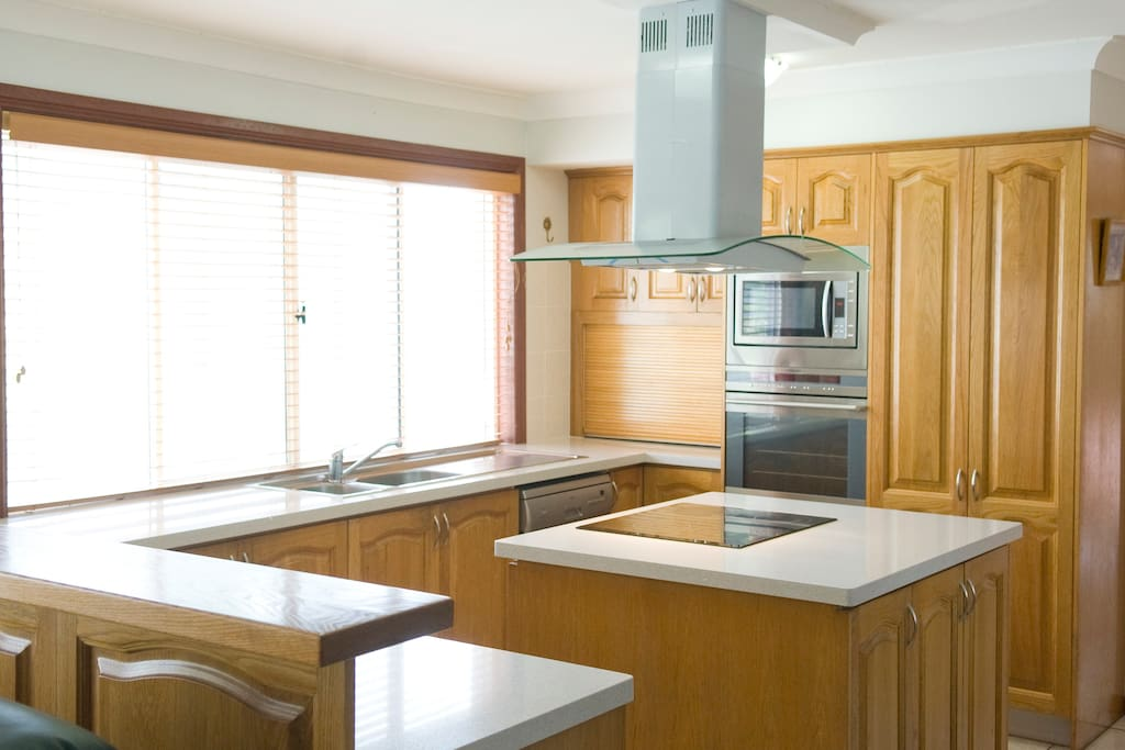 Fully equipped kitchen is available for the use of guests.
