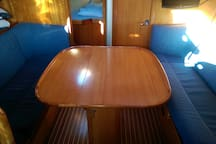 All the tables on the boat are foldable