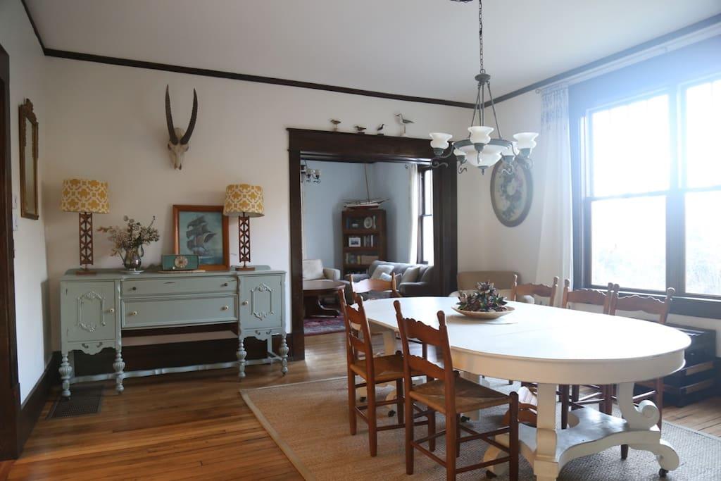Huge formal dining room.