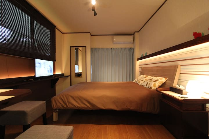 (1) Near Hot Spring, Queen Size Bed, KinugawaOnsen - Nikko - Apartament