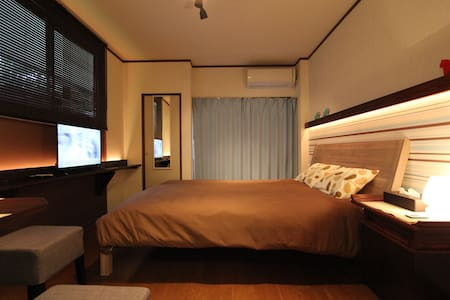 (1) Near Hot Spring, Queen Size Bed, KinugawaOnsen - 日光 - 公寓