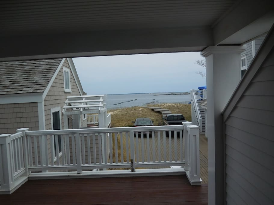 Large private deck. Will provide BBQ The views from here are beautiful