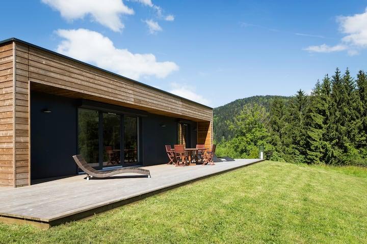 Maison contemporaine a la montagne