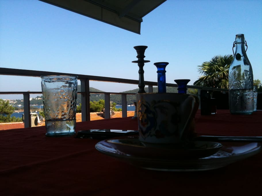Turkish Coffee on the balcony