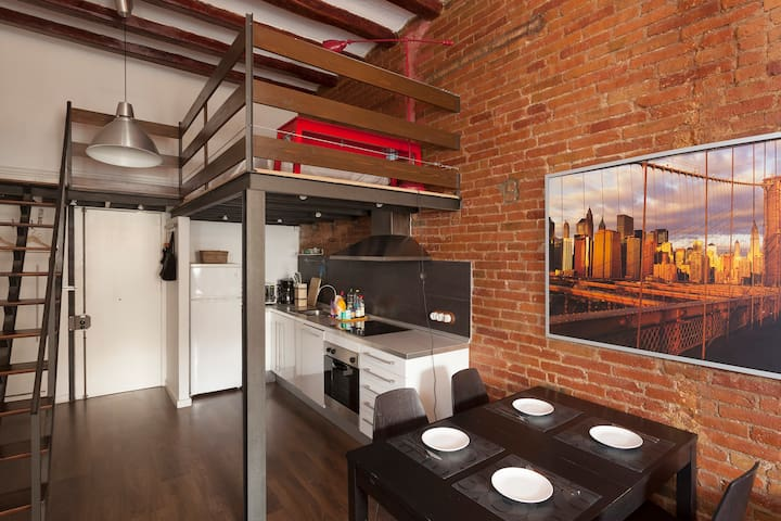 Stylish Loft + 1 bedroom/BCN Center
