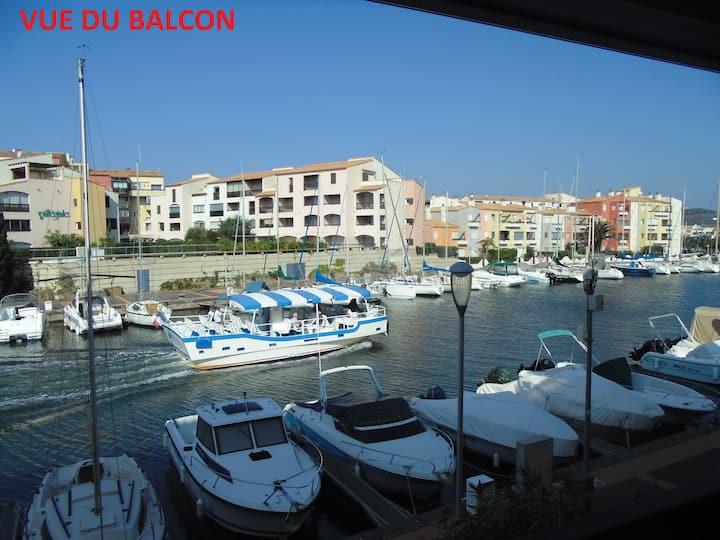 Cap d'Agde +parking +superbe vue+clim+piscine