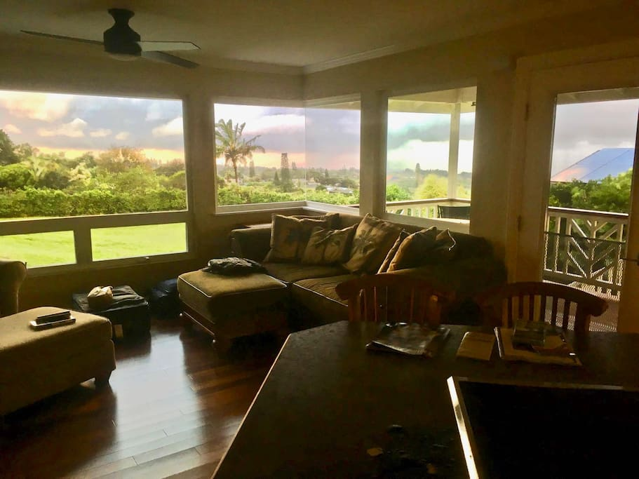 Remodeled Living room with seamless corner window & fantastic south facing view!