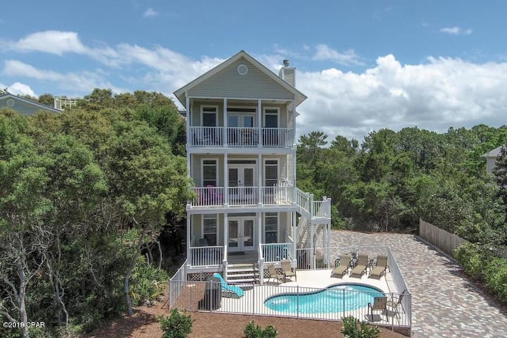 30A  Private Pool/Walk to Beach/View