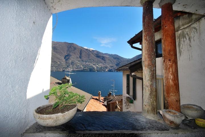 """""""At the castle"""" house, Lake Como,Brienno."""