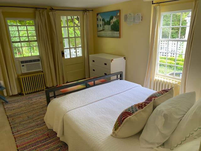 First floor bedroom with queen sized bed.