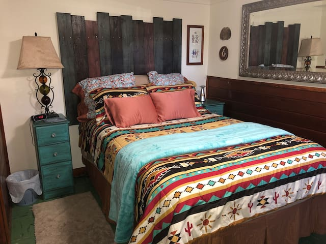 3rd Bedroom, The Kokopelli Room, Double Bed. Large closet