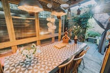 Outdoor heated dining area