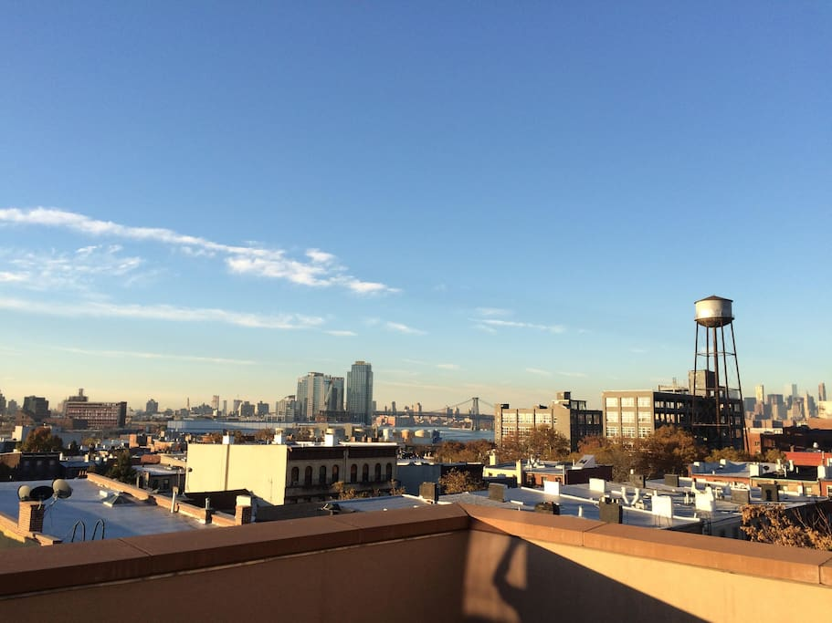 View from the large, private penthouse terrace.