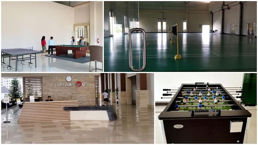 Fun-filled activities: badminton/basketball court, billiards, pingpong table