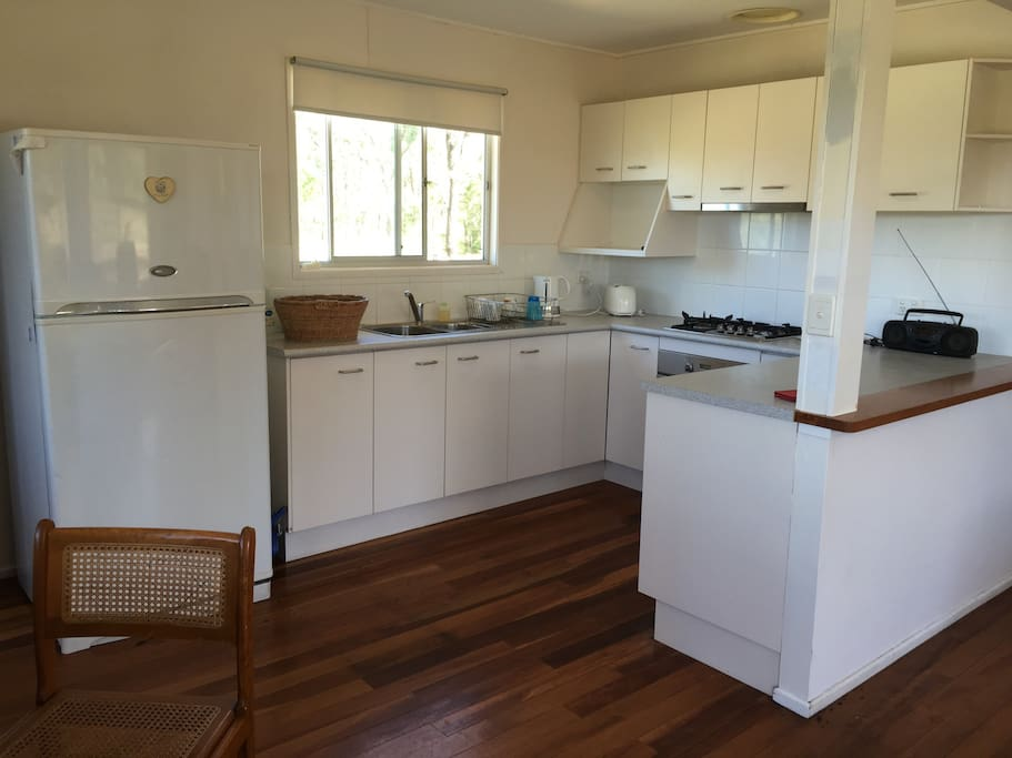 The kitchen has a toaster, jug, sandwich maker and microwave . Gas stove and all your basic cutlery and crockery, pots and pans ...