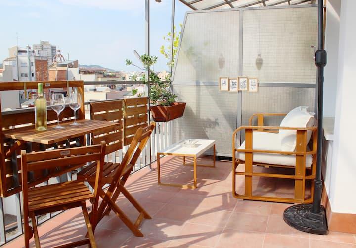 ⭐Ático Suite con Baño y Terraza privados ⭐