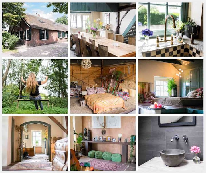 Bohemian Wellness mini-Estate close to Amsterdam!