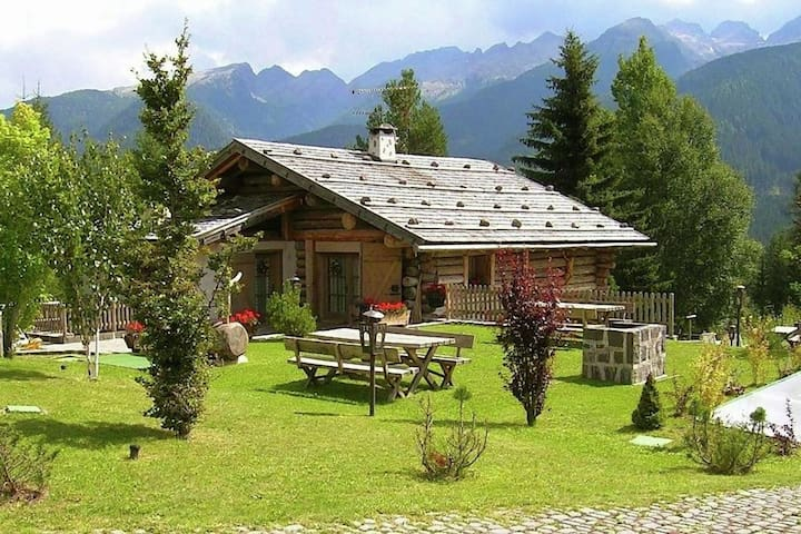 Apartment in a typical baita in the Dolomites with sauna and Turkish bath