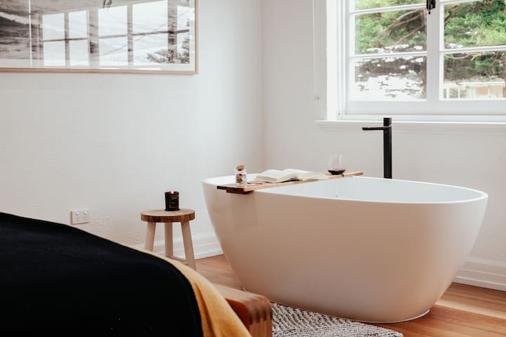 A bath to soak it all away.