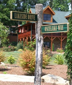 Exclusive Log Cabin on Lake Osceola, just outside downtown Hendersonville, NC - Hendersonville - Mökki