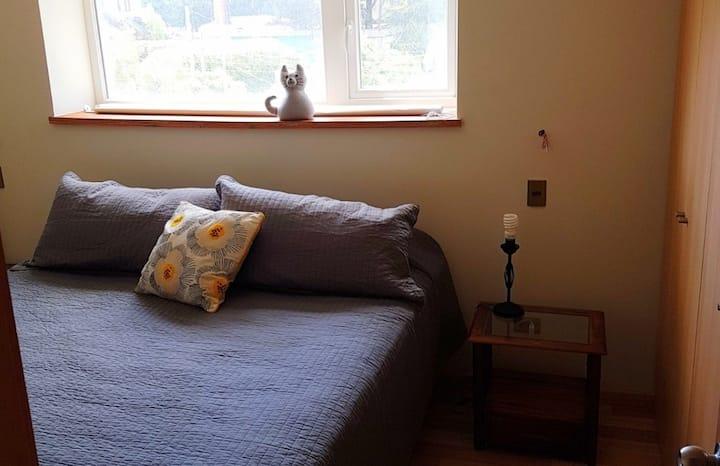 Pieza suite c/cama king en casa a 5 min del centro