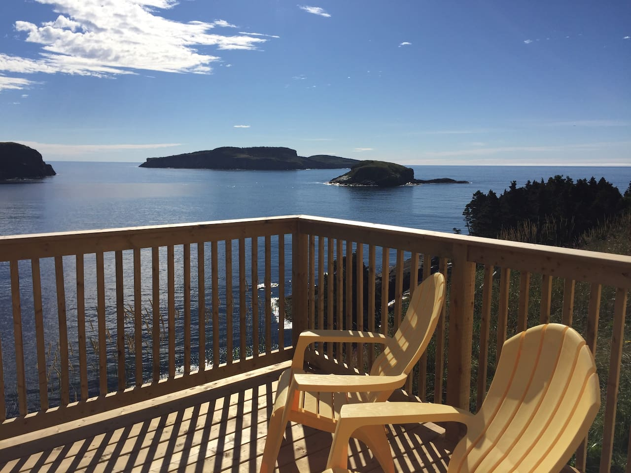 Yes - this is your deck and your view!  You won't want to leave.  and as of 4 July, 2019 - the whales are in!