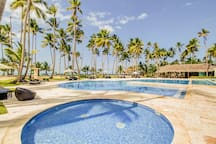 Sea view apartment at amazing beachfront resort w/ shared pool & restaurant!