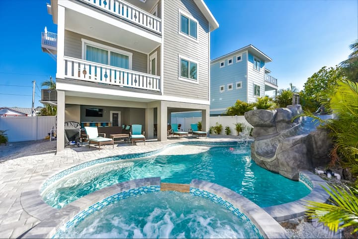 As Far as the Eye Can Sea - 7 bedroom beauty with water views, pool, spa, and waterslide, close to beach!