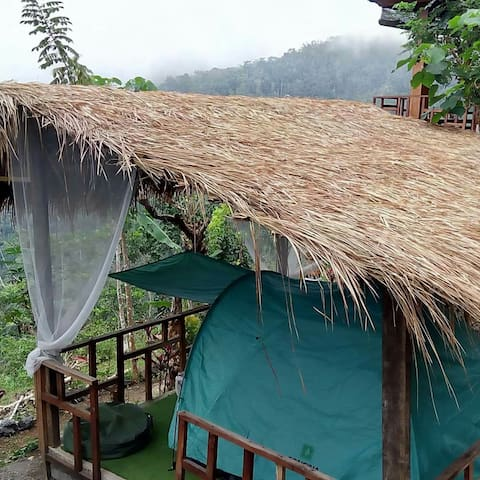 Agung view tent back to nature, east peak of Bali