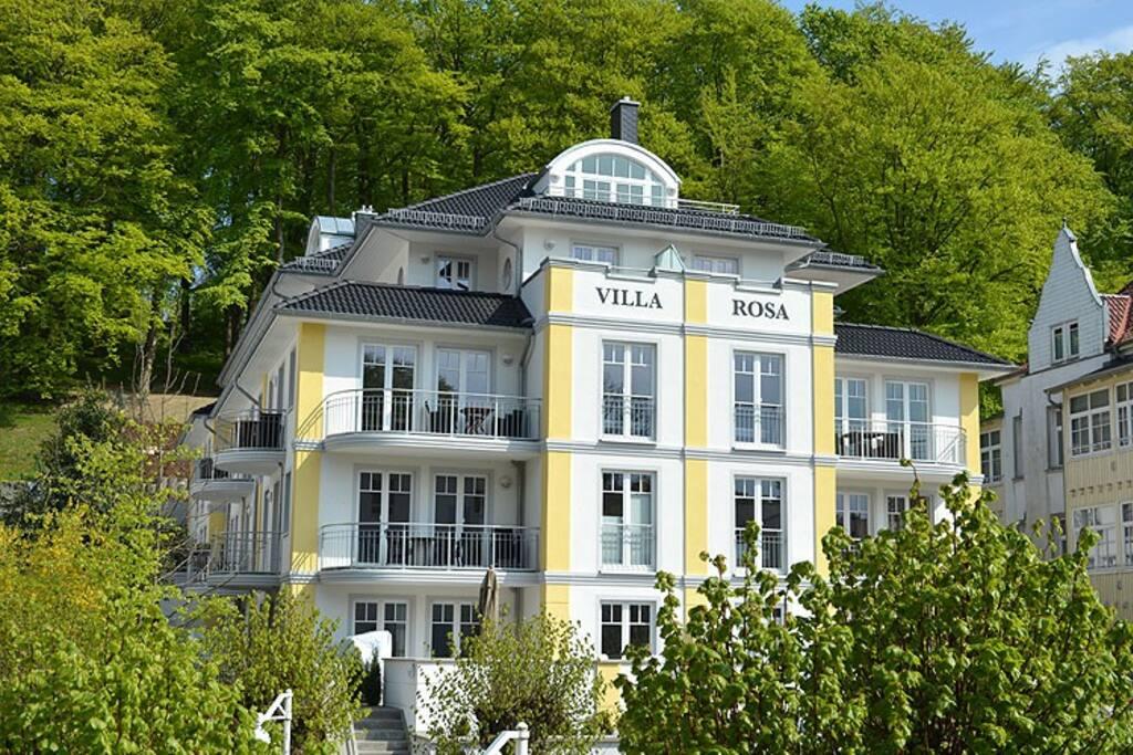 The exterior of the Villa Rosa in the Baltic Sea resort Sellin.