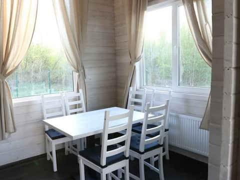 Cottage-duplex with sauna. Hotel Krenitsy