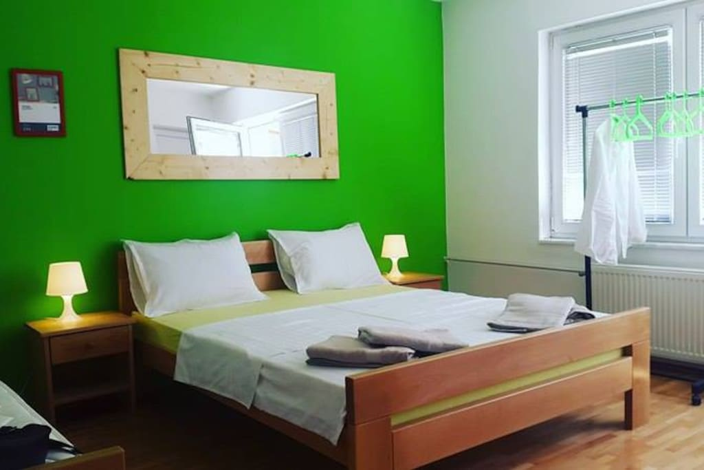 Private room, Double bed + Single One
