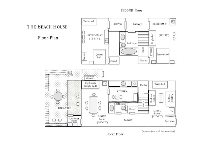 Here is a floor-plan.  Study carefully so you can determine you group's sleeping arrangements