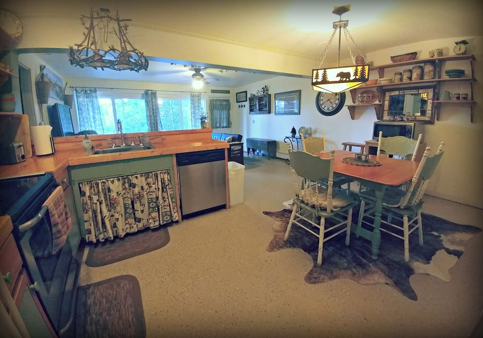 Large kitchen area for cooking and entertaining