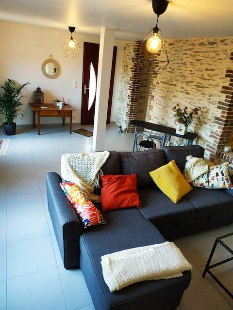 Maison de charme avec jardin et deux terrasses